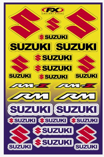 Factory Effex 10-68430 Universal Moto Sticker (Suzuki Stickers)