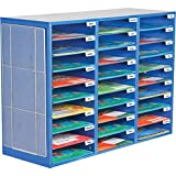 Classroom Mail Center with Magnetic Mesh Panel