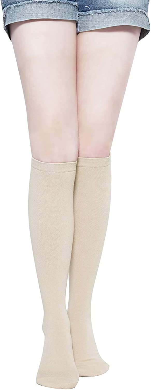 Pack of 3 Little Girls Stockings Triple Stripes Casual Knee High Long Socks