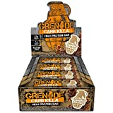 Grenade Carb Killa Protein Chocolate Bar | 23g High Protein Snack | Low Net Carb Low Sugar | Gluten Free Nut Free Energy Bars | Caramel Chaos, 12 Pack