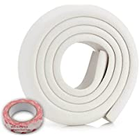 SYGA Baby Safety Strip Furniture Edge Guard Cushion Corner Cover, White (2 Meter 6.5 Feet Tape)