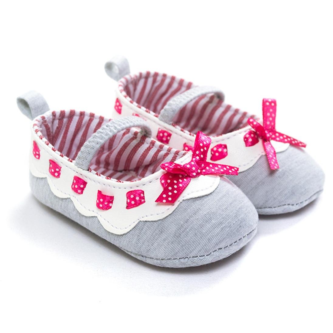 Baby Girl 0-18 Months Bowknot Shoes Anti-Slip Soft Sole Toddler Prewalker Shoes Egmy Baby Shoes