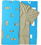 MiracleFold Laundry Folder Clothes T-Shirts Pants Towels Organizer Fast Easy and Fun Time Saver (Blue)