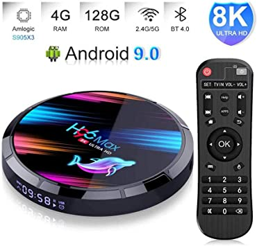LOISK H96 MAX TV Box Android 9.0 4GB RAM/128GB, Amlogic S905X3 64-bit Quad Core Arm® Cortex™ A55 CPU, H.265 Decoding 2.4GHz/5GHz WiFi Smart TV Box: Amazon.es: Deportes y aire libre
