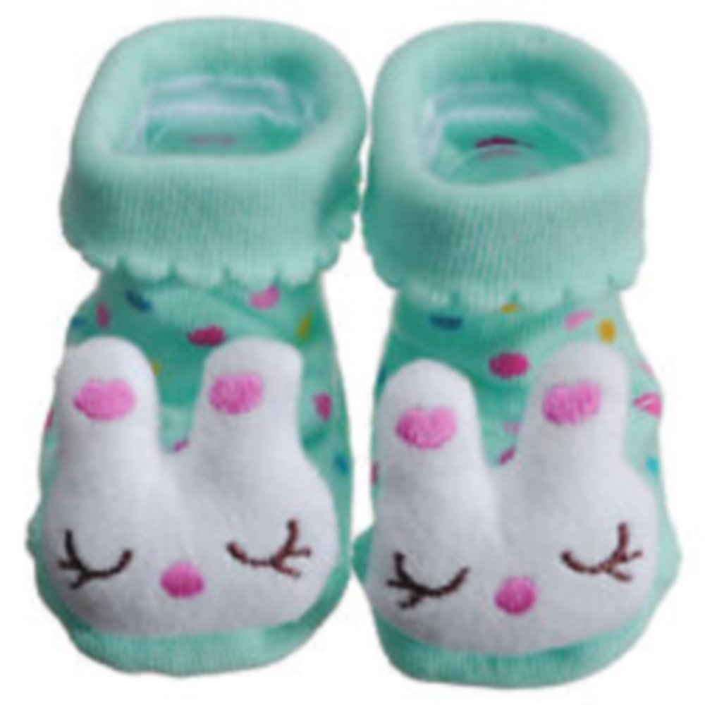 Too Cute 6-12 Month Blue Bunny Infant Play Socks