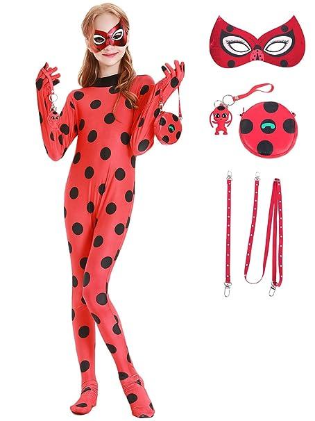 YOSICIL Ladybug Disfraz y Accesorios Muñecas Tikki Máscara Bolso ...