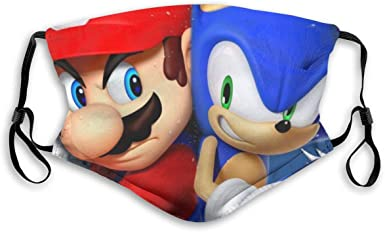Pinttyone Sonic Game Kids Adult Anti Dust Face Mask Washable Adjustable Sport Outdoor Mouth Cover Mask Balaclava At Amazon Men S Clothing Store