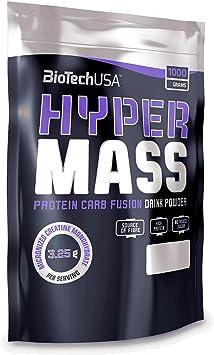 Biotech USA Hyper Mass - Bolsa de 1000 g, carbohidratos, proteínas y ácidos grasos esenciales + coctelera de proteínas CPSports 700 ml