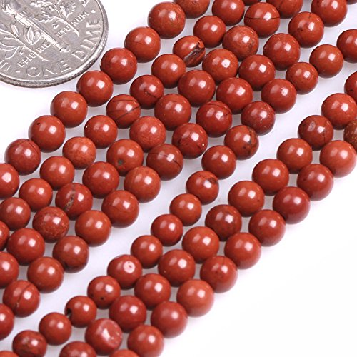 GEM-inside Red Jasper Gemstone Loose Beads 4mm Round Natural Energy Power Beads For Jewelry Making - Jasper Round Gemstone Beads 4mm