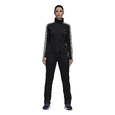 6fde3a281 adidas Women Track Suit Back to Basics Training 3-Stripes Black Gym ...