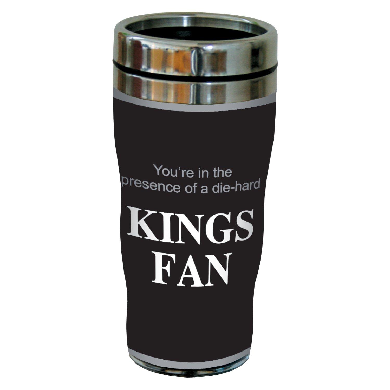 Tree-Free Greetings sg24181 Kings Hockey Fan Sip N Go Stainless Steel Lined Travel Tumbler 16-Ounce Tree Free