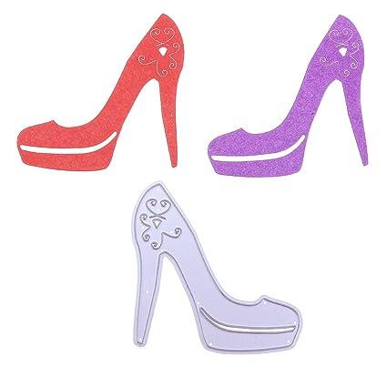 Amazon hongxin crystal high heel shoes cutting dies hongxin crystal high heel shoes cutting dies scrapbooking metal dies stencil diy photo album decorative paper maxwellsz