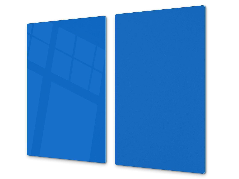 o DOS PIEZAS Superficie de vidrio templado resistente UNA PIEZA ; D18 Serie de colores: D Naranja Claro 60 x 52 cm 30 x 52 cm Cubre vitrocer/ámica y tabla de cortar de cristal templado