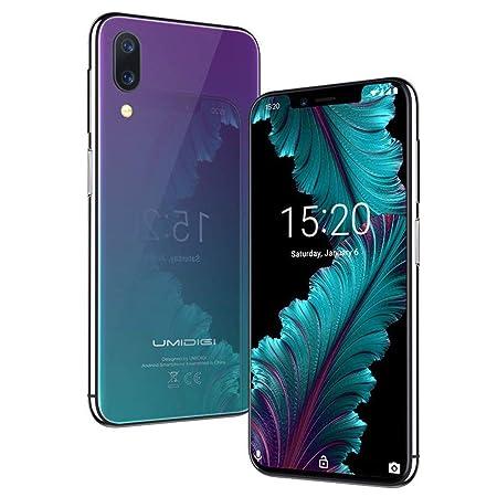 Flaggschiff UMIDIGI One, Android 8.1 Smartphone ohne Vertrag 4G 4GB + 32GB(256GB erweiterbar) Dual SIM Handy 5.9 Zoll 19:9 No