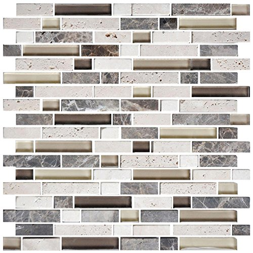 HYH 8mm Thickness Electroplated Glass Stone Blend Mesh-mo...