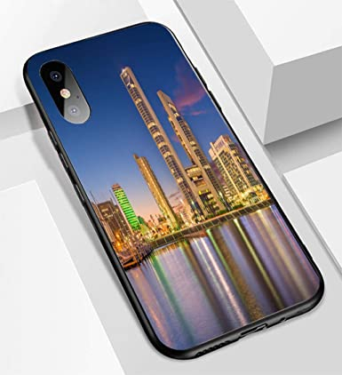 Amazon.com: Carcasa para iPhone X/XS de cristal ultrafino ...
