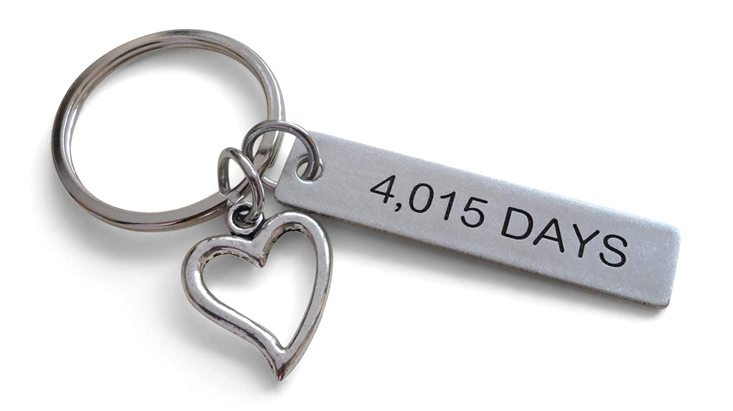 Amazon Stainless Steel Tag Keychain Engraved With4015 Days