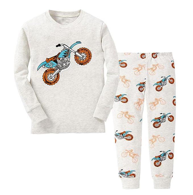 backbuy primavera otoño Collection niños chicos con mango largo (algodón moto pijama gris gris 5