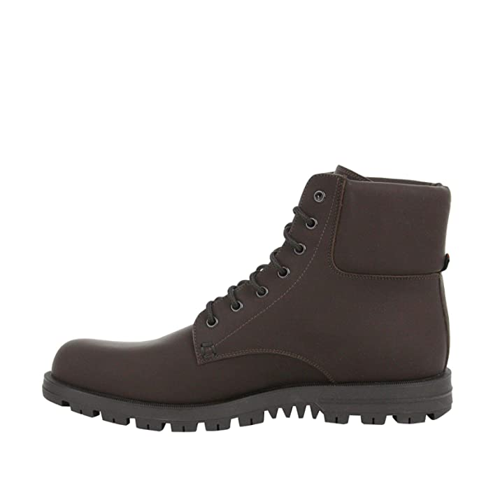 9f83a907fef Amazon.com  Gucci Lace-up Rubberized Brown Leather Ankle Boot with Web  Detail 353425 2152 (11.5 G   12 US)  Shoes