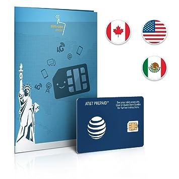 Tarjeta SIM de Prepago EE. UU., Canadá y México en AT&T Red ...