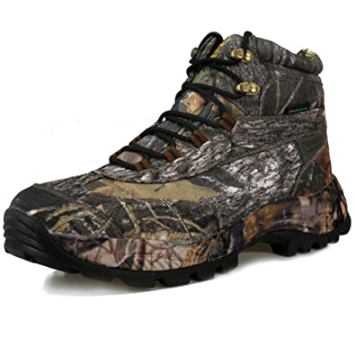 8e28ed74c7381 CUNGE Men's Camouflage Hunting Boots Mid Waterproof Hiking Boots Trekking  Shoes Outdoor Boots (7.5,