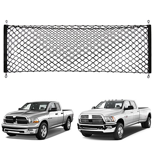 Thie2e Cargo Net Stretchable Truck Net for Dodge RAM 1500