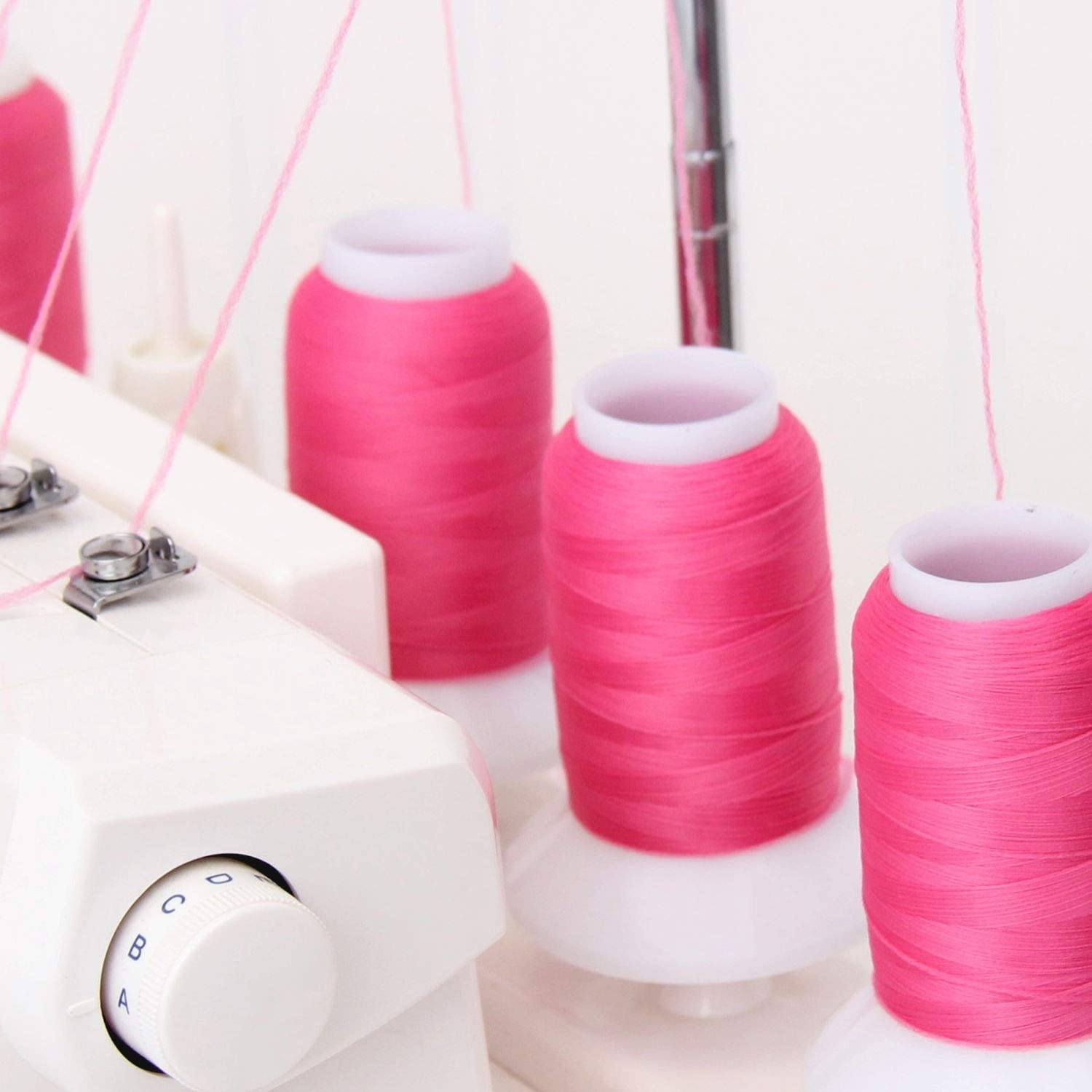 Serger Sewing Stretchy Thread 50 Colors Available Threadart Wooly Nylon Thread GREY//BLUE 1000m Spools Color 9125