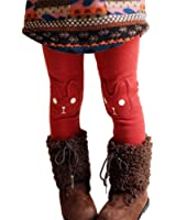 MNLYBABY Kids Girl Winter Warm Rabbit Printed Leggings Fleece Pants