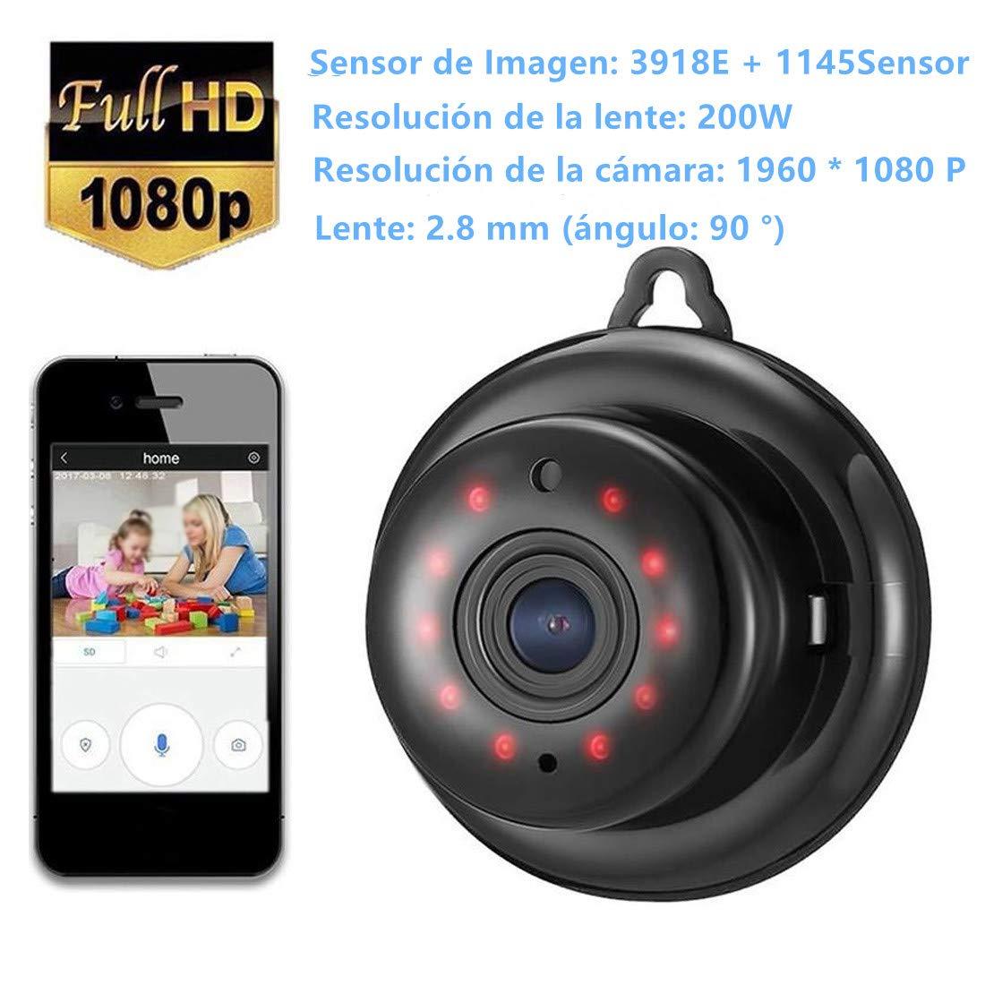 Cámaras de Vigilancia Cámara IP Inalámbrica Visión Nocturna WiFi Cámara Intercomunicador de Voz, HD, 1080P