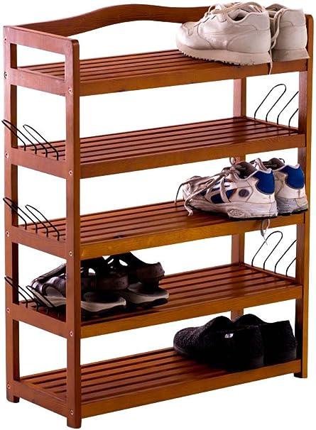 CLP Zapatero de Madera Michaela I Estantería de Zapatos con 5 Estantes I Estantería Abierta de 5 Niveles I Color: Marrón