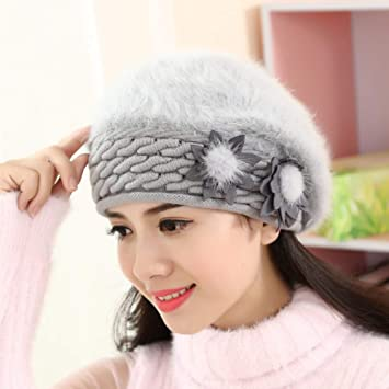 ZSGCHAT Gorros Invierno Mujer Sombrero Bailey Sombrero De Piel De ...