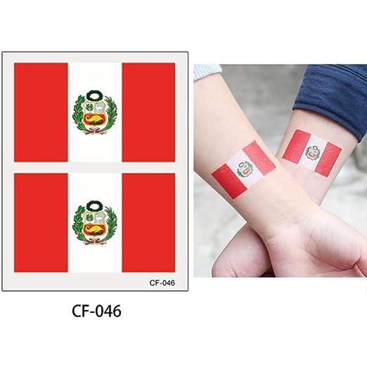 adgkitb Etiqueta engomada del Tatuaje de la Bandera Nacional de 10 ...