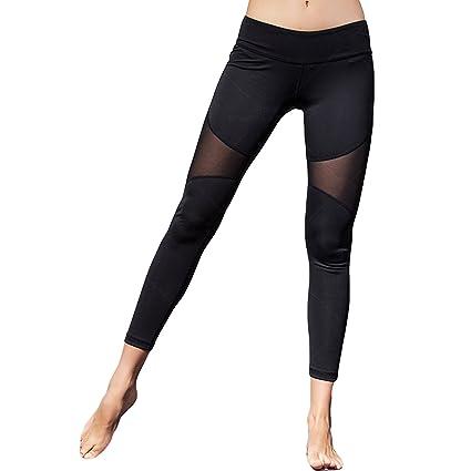 29256d6bd7d9f ArtSport Workout Leggings Yoga Leggings High Waist Yoga Pants Stretchy  Skinny Sheer Mesh Pants for Running