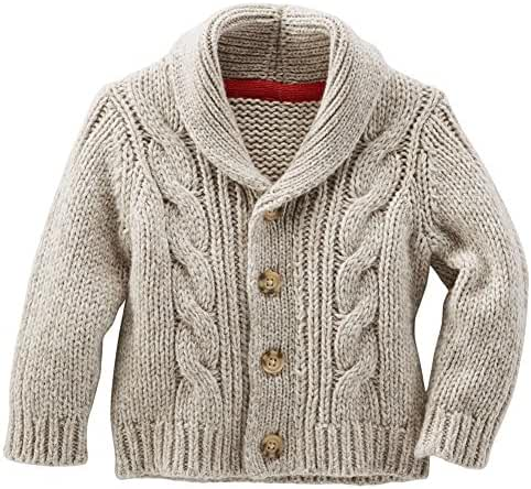 OshKosh B'gosh Baby Boys' Shawl Collar Cardigan, 9 Months