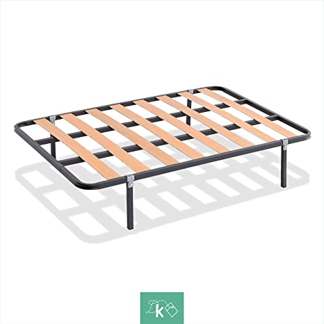 Dreaming Kamahaus SOMIER de lámina Ancha Estructura de 30x30 | 90 x 180 cms.| Láminas de Chopo | Compatible con Patas cuadradas con Abrazadera (No ...