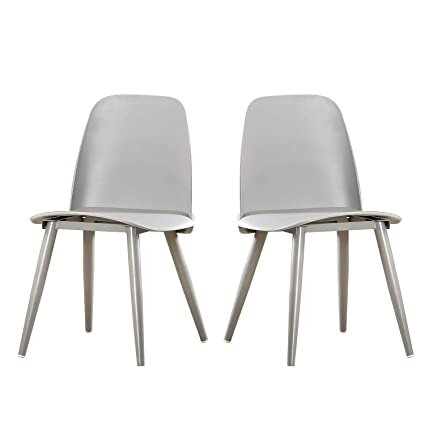 Tremendous Dlandhome Dining Chair Set Of 2 Bar Chair With Heavy Duty Metal Legs Dining Room Chairs D1986 005 Silver Uwap Interior Chair Design Uwaporg