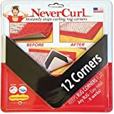 NeverCurl's Best ''V'' Shape Design to Instantly Stops Rug Corner Curling. Safe for wood floors. For Indoor & Outdoor Rugs. NOT AN ANTI-SLIP VERSION. Made USA. Patent Pending
