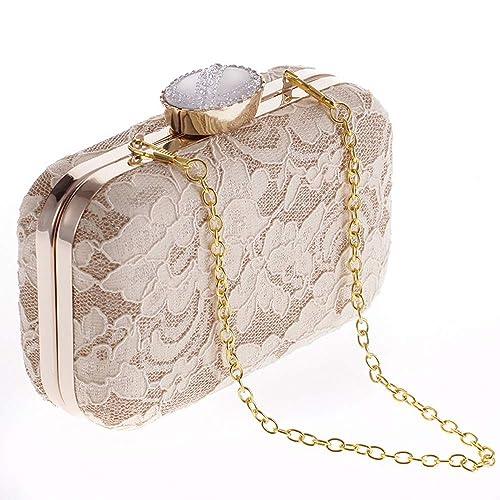 cce405e608d92 Women's Evening Red Bag Clutches Purse Chiffon Flower Handbag Cross ...