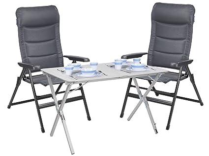 CAMPART TRAVEL - Juego de Mesa y 2 sillas de Camping (110 x 70 cm ...