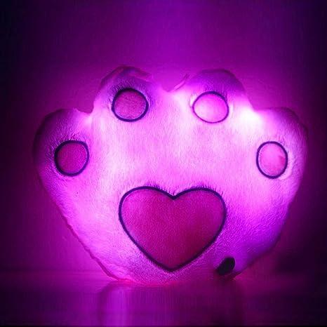 shybuy oso de huellas de almohada LED 7 cambia de color luz ...