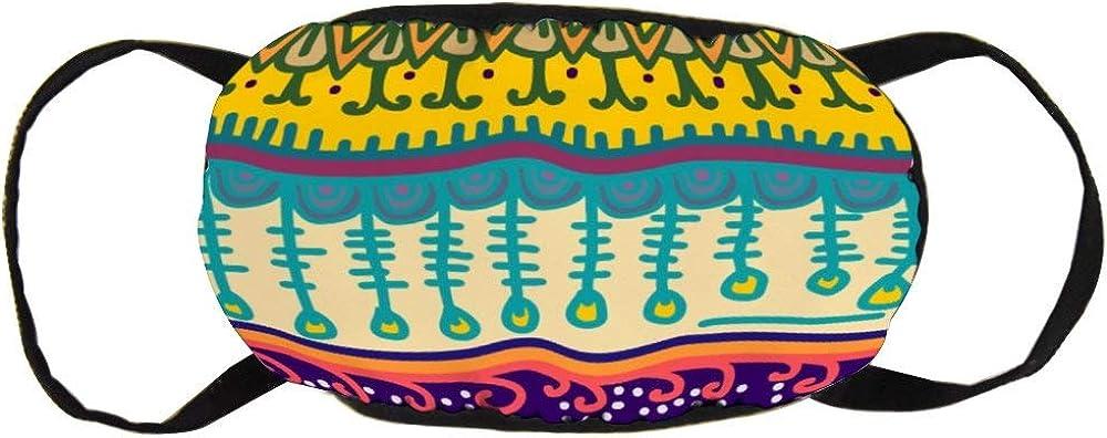 Promini Respiradores de algodón personalizados Máscara bucal de moda Unisex Contaminación antipolvo Ciclismo Media cara Earloop Maya Dibujo bohemio antiguo Cultura navajo