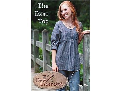 Amazon.com: Sew Liberated Esme Top Ptrn Pattern