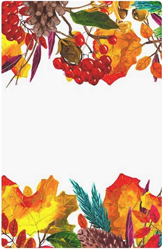 Womens Walle Autumn Leaves Border Frame Space Text Womens Wallets Travel Trifold Wallet Multi Card Organizer Trifold Womens Wallet Blocking Purse Cre