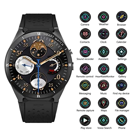 Relojes inteligentes - KW88 Smartwatches Pro 3G Reloj inteligente Android 7.0 1.3Ghz Quad-Core