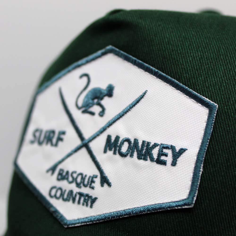 Tesa Curva Surf Monkey Etichetta a Toppa in Tessuto Cappellino Trucker da Uomo spedizione Gratuita Visiera Semi-curvata Regolatore Stile retr/ò Snapback