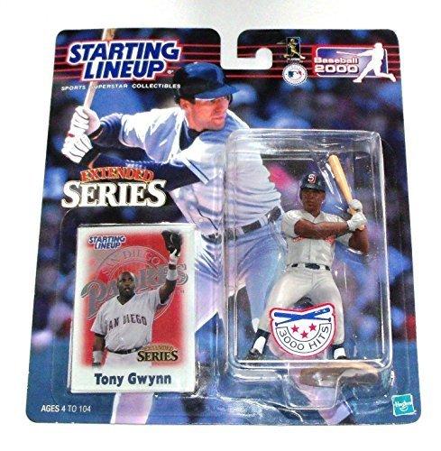 - 2000 Tony Gwynn San Diego Padres Hasbro SLU Starting Lineup Extended Series (3000 Hits) MLB Baseball figure