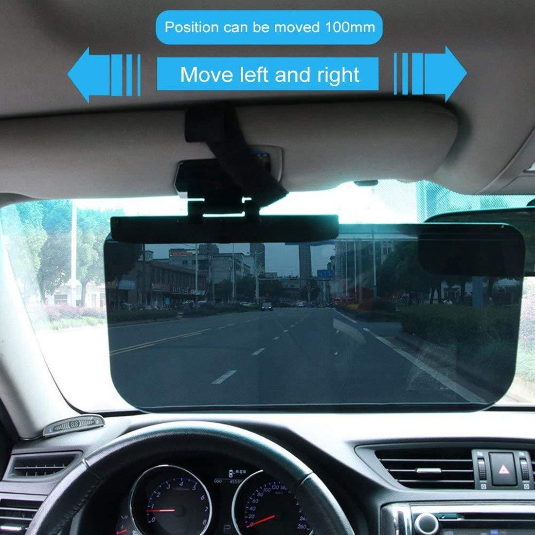 Car Sun Visor by ALZERO Vision Anti-Glare Driving Car Visor 180 Degrees Rotating Sun Blocker for Eye Protector Universal Automobile Anti-Dazzle Sunshade Windshield Extension