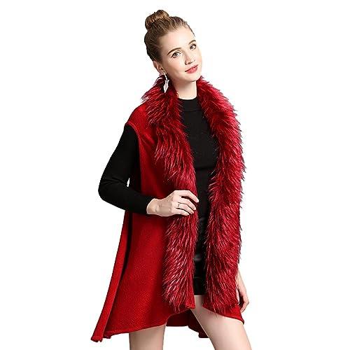 WanYang Mujeres Chaleco De Punto Cardigan Otoño E Invierno Outwear Tendencia De Moda Abrigo De Mantó...