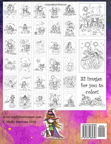 Whimsical Halloween Coloring Book: Witches, Vampires Kitties and ...