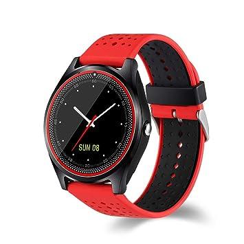JSGJSH 2018 Pulsera Inteligente EnohpLX Bluetooth Reloj Inteligente V9 DZ09 con cámara SmartWatch podómetro Salud Deporte